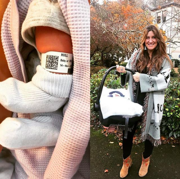 """<p>The former MIC star welcomed a baby boy in November 2017, and took to <a href=""""https://www.instagram.com/p/BbkWAT0BcPV/?taken-by=cheskahull"""" rel=""""nofollow noopener"""" target=""""_blank"""" data-ylk=""""slk:Instagram"""" class=""""link rapid-noclick-resp"""">Instagram</a> to share, """"BABY HULL HAS ARRIVED.</p><p>""""Welcome to the world my beautiful little soldier - <strong>Charlie Henry Stephen Hull!</strong> Born on his due date, 14th November 2017 and weighing 8 lbs 6oz... so happy and complete! Love my little darling xxx 💙💙💙💙💙💙💙""""</p>"""
