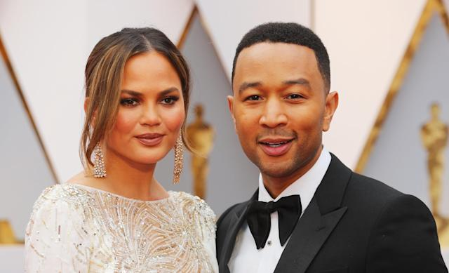 Chrissy Teigen and John Legend recently lost the first dog they got together, Puddy. (Mike Blake / Reuters)