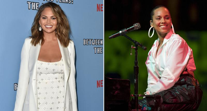 Chrissy Teigen and Alicia Keys, left and right respectively, are among some high profile Linktree users. Source: Getty