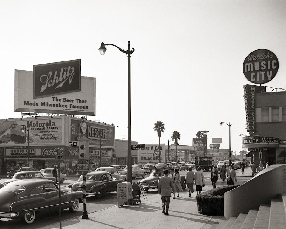 <p>Sunset Boulevard is one of a few major streets in Hollywood, Vine Street (pictured) is another. <br></p>