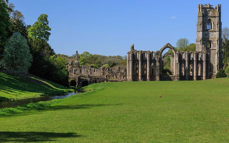 The 70-acre ruins of the Cistercian Fountains Abbey near Ripon play a starring role in the new film. - EMILY M WILSON