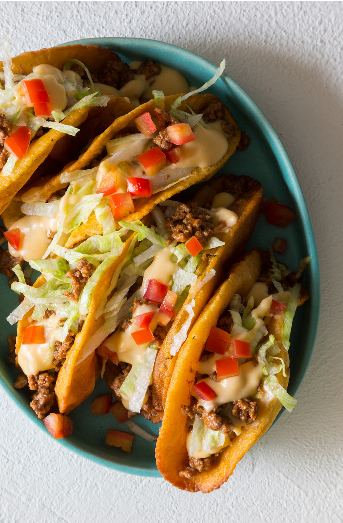 "<p>If you're brave enough to try and deep-fry a taco shell, this recipe will reward your courage.</p><p><em><a href=""http://www.spoonforkbacon.com/2014/11/crunchy-ground-beef-cheesy-tacos/"" rel=""nofollow noopener"" target=""_blank"" data-ylk=""slk:Get the recipe from Spoon Fork Bacon »"" class=""link rapid-noclick-resp""><span class=""redactor-invisible-space"">Get the recipe from Spoon Fork Bacon »</span></a></em><br></p>"