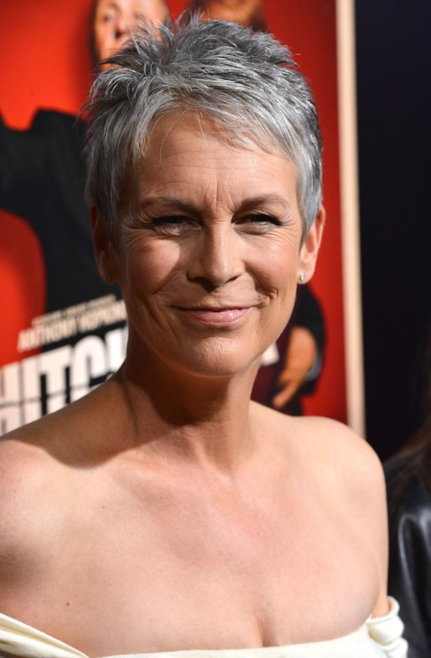 """BEVERLY HILLS, CA - NOVEMBER 20:  Actress Jamie Lee Curtis arrives at the Premiere Of Fox Searchlight Pictures' """"Hitchcock"""" at AMPAS Samuel Goldwyn Theater on November 20, 2012 in Beverly Hills, California.  (Photo by Frazer Harrison/Getty Images)"""