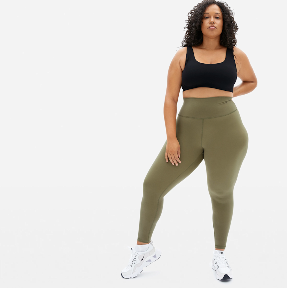 """<h2>Everlane The Perform Legging</h2><br><a href=""""https://refinery29.com/en-us/2021/03/10352284/everlane-perform-legging-sale"""" rel=""""nofollow noopener"""" target=""""_blank"""" data-ylk=""""slk:Everlane says sale"""" class=""""link rapid-noclick-resp"""">Everlane says sale</a>, and we all say, when? As was the case when a batch of popular and well-reviewed Perform leggings. We don't believe that more is more when it comes to buying stuff, so a good pair of leggings that last tops the list of smart buys — especially when the price drops. And we're no the only ones; this deal is selling out fast with a few sizes left in assorted colors.<br><br><em>Shop <strong><a href=""""https://www.everlane.com/products/womens-perform-legging-ankle-lichen"""" rel=""""nofollow noopener"""" target=""""_blank"""" data-ylk=""""slk:Everlane"""" class=""""link rapid-noclick-resp"""">Everlane</a></strong></em><br><br><strong>Everlane</strong> The Perform Legging, $, available at <a href=""""https://go.skimresources.com/?id=30283X879131&url=https%3A%2F%2Fwww.everlane.com%2Fproducts%2Fwomens-perform-legging-ankle-lichen"""" rel=""""nofollow noopener"""" target=""""_blank"""" data-ylk=""""slk:Everlane"""" class=""""link rapid-noclick-resp"""">Everlane</a>"""