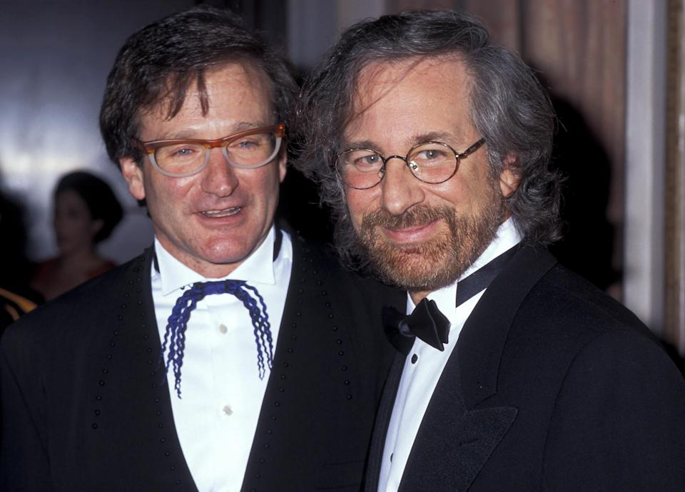 Robin Williams and Steven Spielberg during the American Museum of the Moving Image Honors Robin Williams gala at the Waldorf-Astoria hotel in New York City. (Photo: Getty Images)