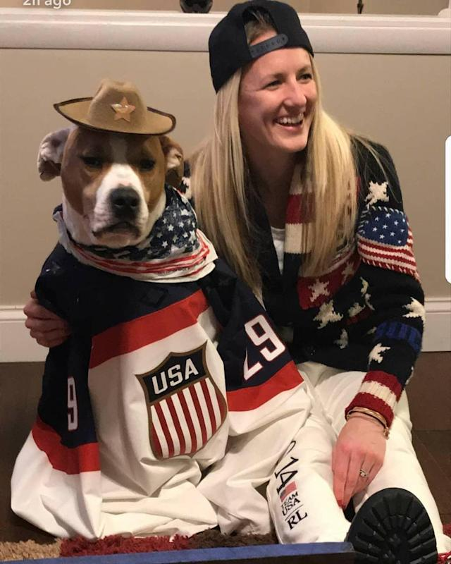 <p>briannemcl: We ready… #olympics2018 (Photo via Instagram/briannemcl) </p>