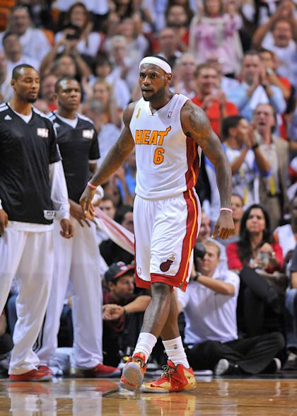 LeBron James had 17 points, eight assists and six rebounds in the Heat's opening victory. (USA Today)