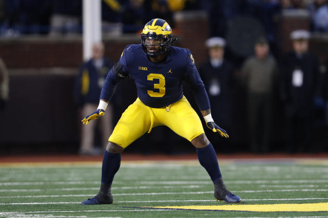 Former Michigan defensive lineman Rashan Gary has started Rashan Gary Sports ahead of the NFL draft. (AP Photo/Paul Sancya)