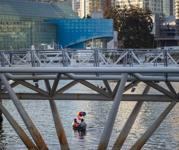The couple started at Granville Island and made their way toward Science World.