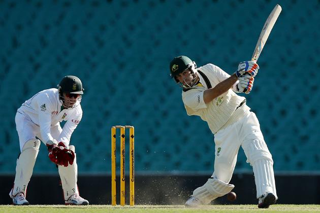 SYDNEY, AUSTRALIA - NOVEMBER 02:  Glenn Maxwell of Australia A bats during day one of the International tour match between Australia A and South Africa at Sydney Cricket Ground on November 2, 2012 in Sydney, Australia.  (Photo by Chris Hyde/Getty Images)