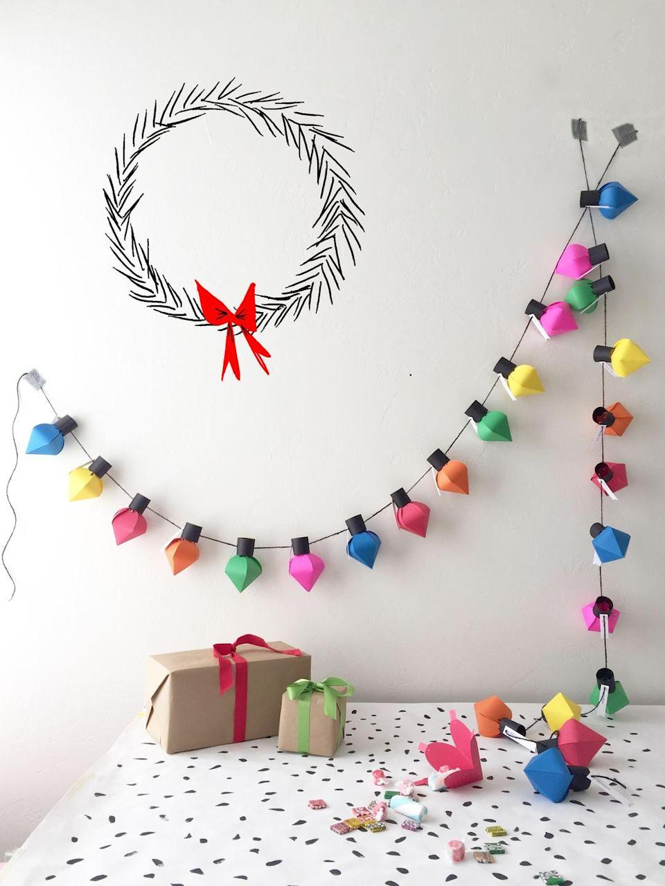 "<p>Not only is this super colorful strand of string lights gorgeous wall (or tree!) decor, but it's also an adorable advent calendar.</p><p>Get the tutorial at <a href=""http://thehousethatlarsbuilt.com/2015/11/diy-christmas-bulb-advent-calendar.html/"" rel=""nofollow noopener"" target=""_blank"" data-ylk=""slk:The House That Lars Built"" class=""link rapid-noclick-resp"">The House That Lars Built</a>.</p>"
