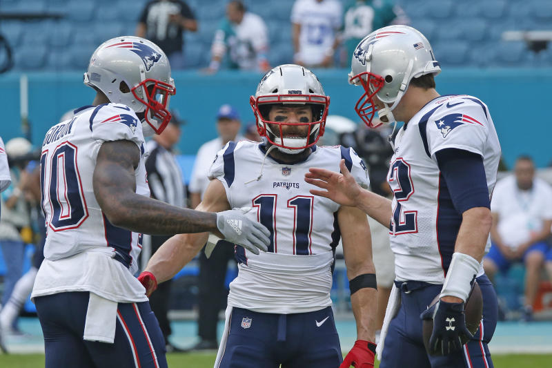 Josh Gordon and Julian Edleman figure to be featured even more in New England's offense with the departure of Rob Gronkowski. (Getty)