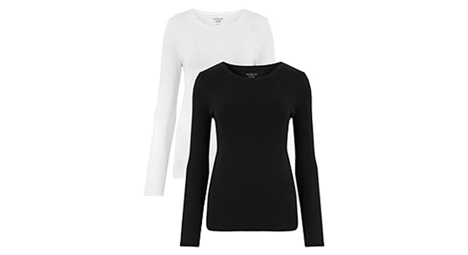 2 Pack Pure Cotton Regular Fit Tops