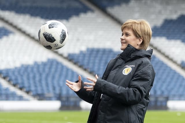 Funding announcement for Scottish football team