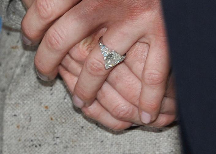 Albert II, Prince of Monaco, asked former Olympic swimmer Charlene Wittstock to be his bride in June of 2010 with a Maison Repossi ring with a three-carat pear-shaped diamond in a tapered band set with more diamonds.