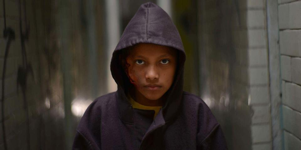 """<p>Sure, including a film released into limited theaters just last year in a """"scariest of all time"""" list is a ballsy move, but this is a ballsy film. A chilling, otherworldly fairy tale told from the viewpoint of several children left orphaned by the Mexican drug cartel, <em>Tigers Are Not Afraid</em> is a beastly watch that commands the screen from its opening credits. Filmmaker Issa López blends Guillermo del Toro-like fantasy elements, spooky supernatural frights, and the very real collateral effects of cartel-related violence into one masterful survival tale about five kids, three wishes, and the lawless underbelly of a country fighting a drug war. <a class=""""link rapid-noclick-resp"""" href=""""https://www.amazon.com/Tigers-Are-Afraid-Paola-Lara/dp/B07WNYPX89?tag=syn-yahoo-20&ascsubtag=%5Bartid%7C10056.g.10247453%5Bsrc%7Cyahoo-us"""" rel=""""nofollow noopener"""" target=""""_blank"""" data-ylk=""""slk:Watch Now"""">Watch Now</a> </p>"""