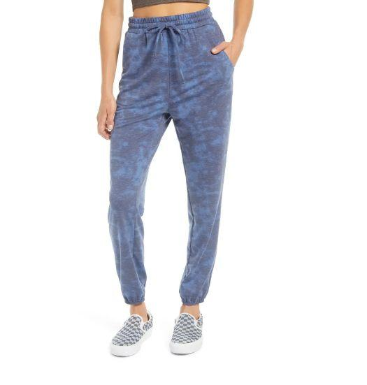 """These <a href=""""https://fave.co/2Tihf1G"""" target=""""_blank"""" rel=""""noopener noreferrer"""">BP. Tie Dye Joggers</a> are available in four colors and sizes XS to XXL. Find it <a href=""""https://fave.co/2Tihf1G"""" target=""""_blank"""" rel=""""noopener noreferrer"""">on sale for $34</a> (normally $49) at Nordstorm. The matching <a href=""""https://fave.co/3m97wqT"""" target=""""_blank"""" rel=""""noopener noreferrer"""">BP. Tie Dye Twist Front Top</a>is available in four colors and sizes XS to XXL. Find it <a href=""""https://fave.co/3m97wqT"""" target=""""_blank"""" rel=""""noopener noreferrer"""">on sale for $31</a> (normally $45) at Nordstorm."""