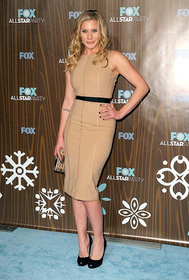 "The other best-dressed woman at the FOX fete was ""24's"" newest addition, former ""Battlestar Galactica"" lead Katee Sackhoff, who popped a pose in a belted tan head-turner and black pumps. Kevin Winter/<a href=""http://www.gettyimages.com/"" target=""new"">GettyImages.com</a> - January 11, 2010"