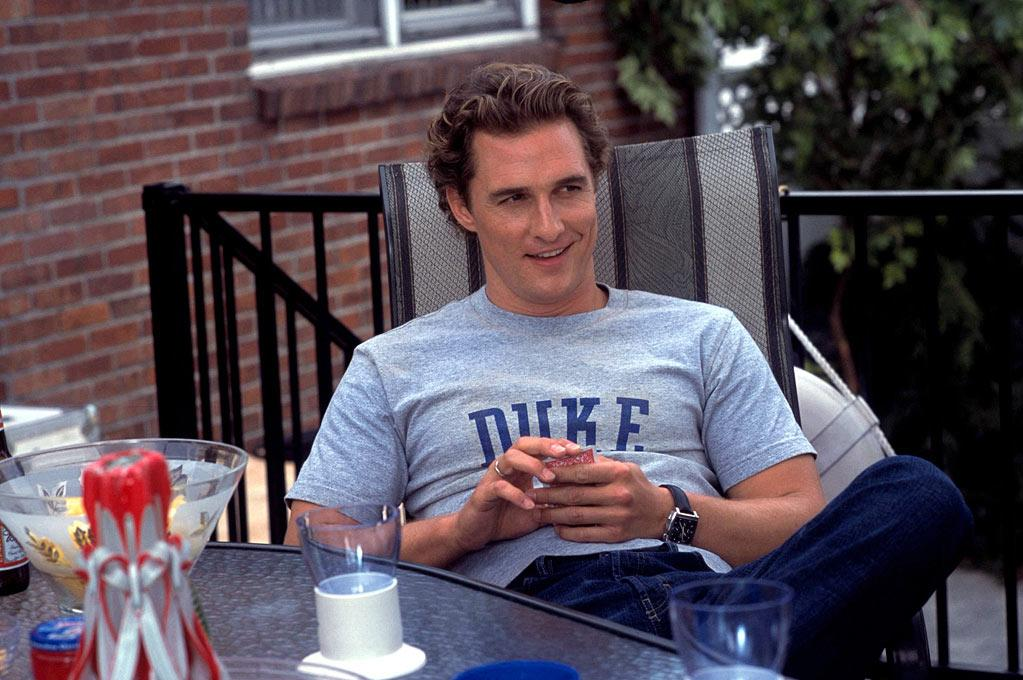 """<a href=""""http://movies.yahoo.com/movie/1808404459/info"""">HOW TO LOSE A GUY IN 10 DAYS</a> (2003)  See? Give him full head of hair, a clean shave, and some casual clothes and McConaughey has one of the biggest financial hits of his career."""