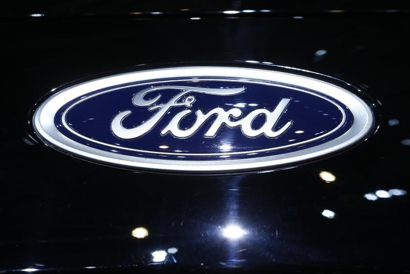 A Logo Of Ford Is Pictured On A Car At The Th International Motor Show In