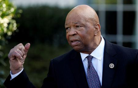 FILE PHOTO: U.S. Representative Cummings (D-MD) speaks with reporters after meeting with President Trump about prescription drug prices at the White House in Washington