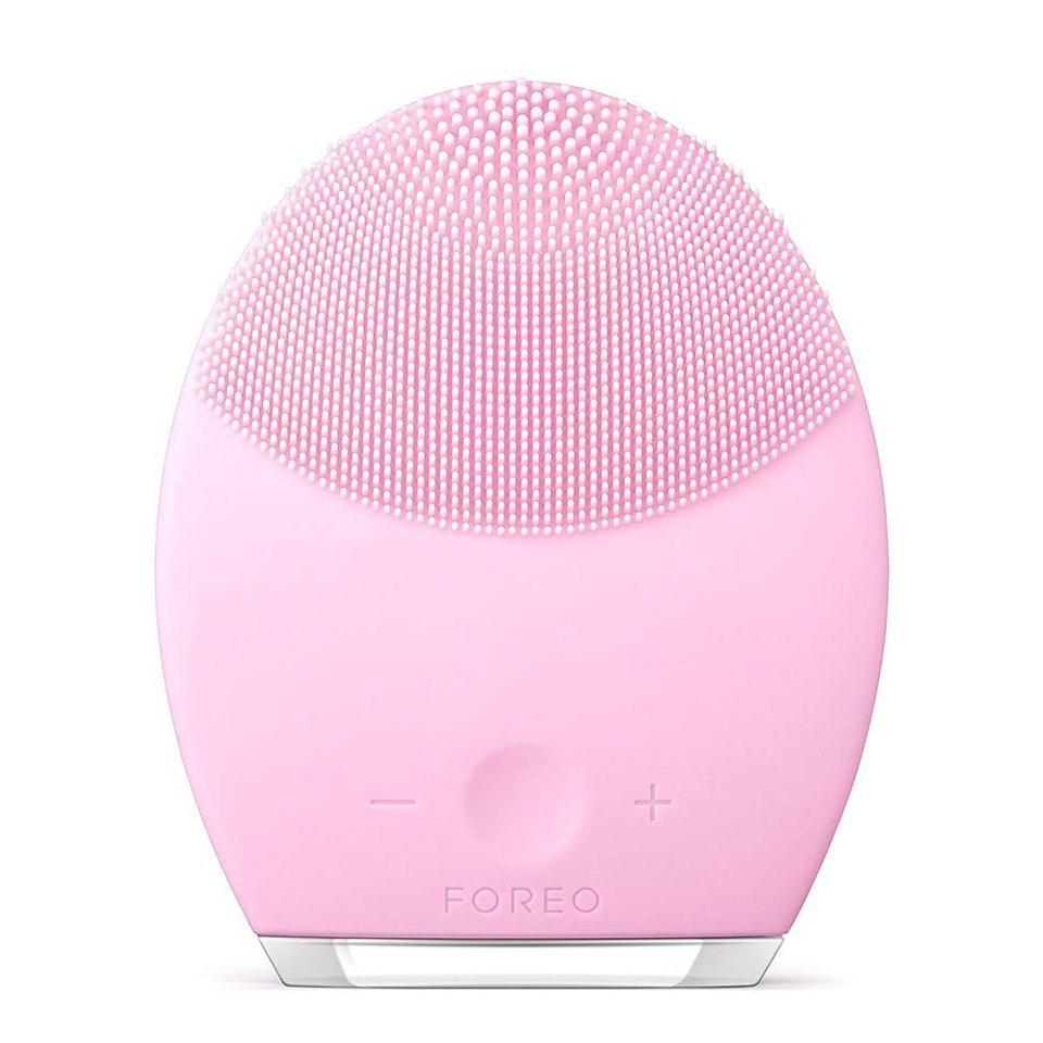 """<p><strong>Foreo</strong></p><p>amazon.com</p><p><strong>$169.00</strong></p><p><a href=""""https://www.amazon.com/dp/B01A61XUWC?tag=syn-yahoo-20&ascsubtag=%5Bartid%7C10058.g.33762832%5Bsrc%7Cyahoo-us"""" rel=""""nofollow noopener"""" target=""""_blank"""" data-ylk=""""slk:SHOP IT"""" class=""""link rapid-noclick-resp"""">SHOP IT</a></p><p>Foreo's face cleanser tool makes skin super soft by removing dirt, oil, and leftover makeup, but our favorite part is that it's made entirely of silicone, so there are no expensive brush heads to replace. There are four types to choose from—normal, oily, sensitive, and combination—so it's like having bristles that are personalized to your skin. </p>"""