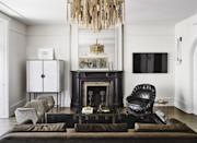 """<p><strong>What are your best tips to help people emulate boutique hotel style at home?</strong></p><p>""""I like design contrasts, whether that's in the color palette and materials I'm working with or even the energy that different pieces can evoke. I think that's what you see in boutique hotel design, it's the push and pull of different elements to create a curated look. Finding synergy between vintage and contemporary designs is a trademark of boutique hotels...and so is a stellar mini bar. To re-create this at home, I would pair the<a href=""""https://www.cb2.com/ruffle-sprayed-concrete-credenza/s628471"""" rel=""""nofollow noopener"""" target=""""_blank"""" data-ylk=""""slk:Ruffle Sprayed Concrete Credenza"""" class=""""link rapid-noclick-resp""""> Ruffle Sprayed Concrete Credenza</a> from my new collection with CB2 with a set of beautiful, vintage crystal glassware. </p><p><strong>How can you make your space more glamorous with boutique hotel design practices for a home that feels anything but?</strong></p><p>Invest in quality bedding and an incredible mattress. The bedding adds glamour to the room, and sleeping on a cloud will have you feeling glamorous the next morning! </p>"""