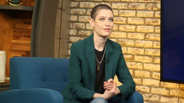 PHOTO: Asia Kate Dillon appears on 'Popcorn with Peter Travers' at ABC News studios in New York City, March 20, 2019. (Emilie Richardson/ABC News)