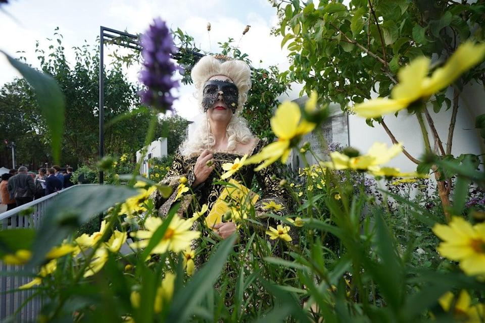 Mel Reynard at the Landform Balcony Garden at the RHS Chelsea Flower Show (Yui Mok/PA) (PA Wire)