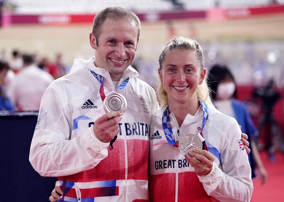 Laura and Jason Kenny won silver medals in Tokyo on Tuesday (Danny Lawson/PA) (PA Wire)