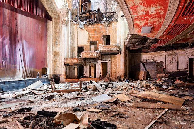 <p>Lambros is also keen to help get the old theaters restored to their original states. (Photo: Matt Lambros/Caters News) </p>