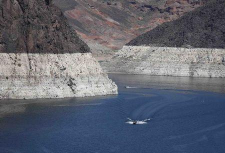 File photo of low water levels of Lake Mead near the Hoover Dam on the Nevada and Arizona border