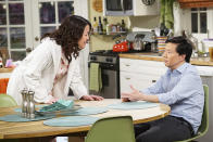 """<p><b>This Season's Theme:</b> """"I think the theme is family,"""" Star Ken Jeong tells us. """"Allison, my wife [played by Suzy Nakamura] will be working with me at the HMO, Welltopia, and so there is a bit of a shift in the paradigm. This season just really tackles not only working with his wife, but also living with her."""" <br><br><b>Where We Left Off:</b> Dr. Ken took a break from the HMO office to try his hand at stand-up, paving the way for more changes in Season 2. But Jeong tells us that his character will also explore deeper things than """"just comedy and business."""" <br><br><b>Coming Up:</b> Damona (Tisha Campbell-Martin) and Pat (Dave Foley) will finally decide what to do with their on-and-off relationship, while Dave (Albert Tsai) will get a girlfriend, played by Jeong's real-life daughter, Zooey. And Jeong teases there's something planned for D.K. (Dana Lee) that's """"kind of a jaw-dropper"""" and causes him to move in with the Park family. """"We have a specific reason he moves in,"""" Jeong explains. <br><br><b>Culture Shock:</b> Jeong tells us he's excited for a Halloween episode that will be """"a full-on Korean ghost story."""" """"We are really talking more cultural aspects,"""" Jeong says. """"It's almost a little bit 'Treehouse of Horror' you get from <i>The Simpsons</i>. So we're doing a very outside-of-the-box Halloween episode. It really departs from the <i>Dr. Ken</i> formula and we are really excited about it. """" <i>– VLM</i> <br><br>(Credit: Danny Feld/ABC)</p>"""