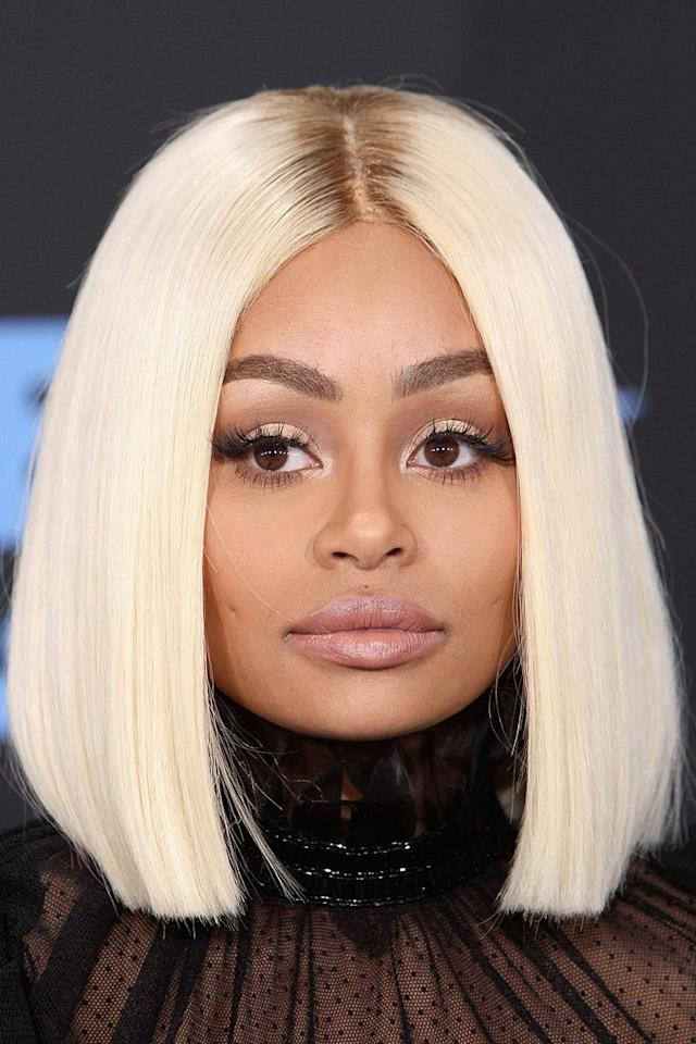 <p>Blonde bobs reigned supreme at the BET Awards, and Blac Chyna's choppy rendition of the look was on point. (Photo: Getty Images) </p>