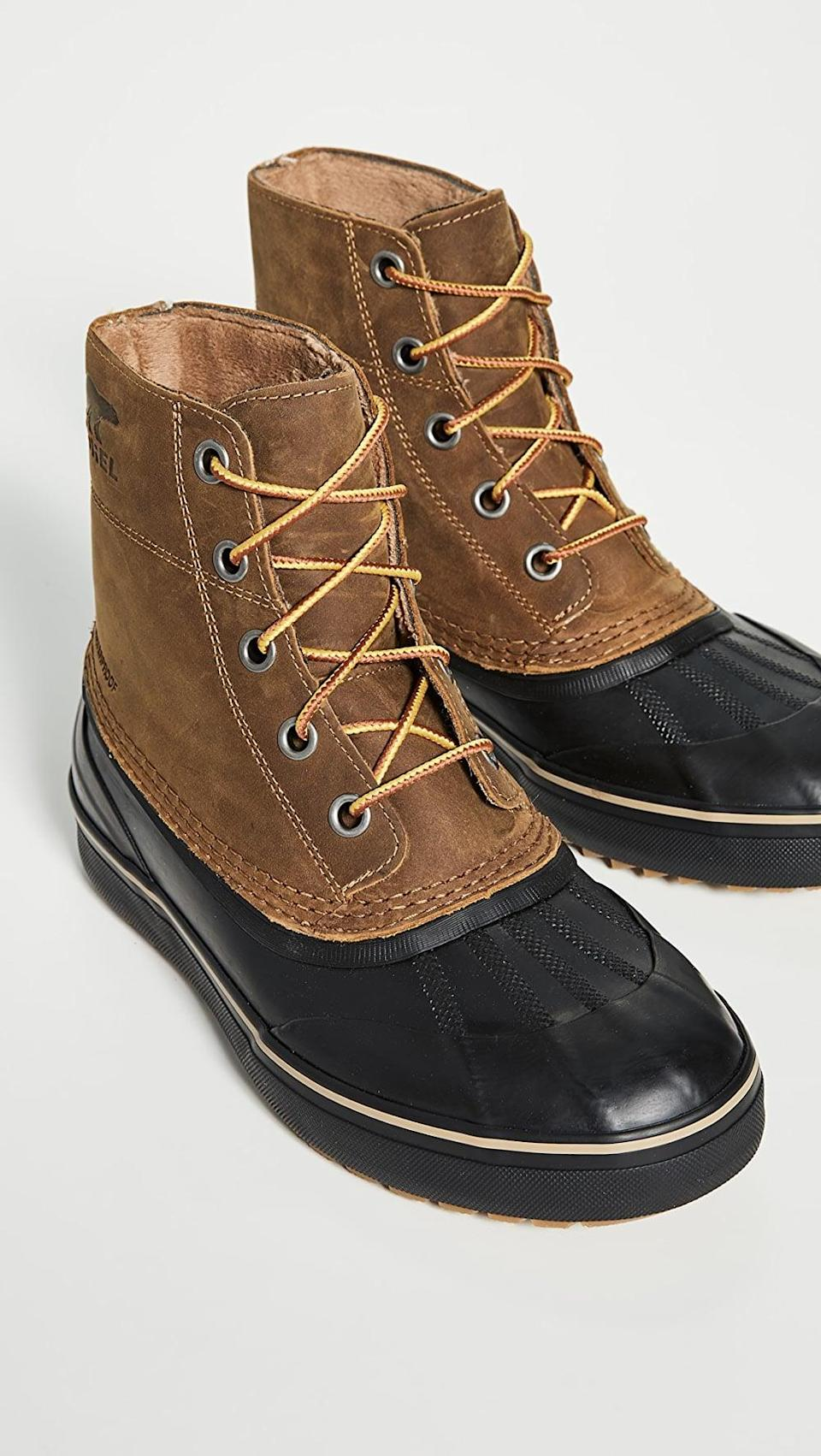 <p>Cold weather calls for these <span>Sorel Cheyanne Metro Lace Up Waterproof Boots</span> ($155).</p>