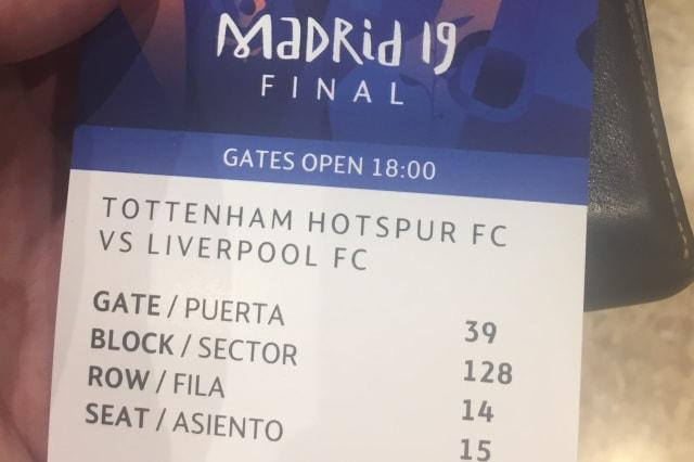 Liverpool fan 'robbed' as legitimate Champions League final ticket seized