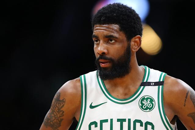 Kyrie Irving is going somewhere. That place is probably not the Celtics. (Photo by Maddie Meyer/Getty Images)