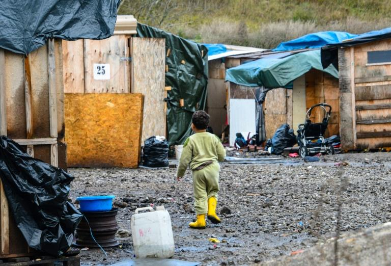 When the Calais 'Jungle' tent camp was broken up, its thousands of remaining residents were bussed to shelters around France like this one in Grande-Synthe