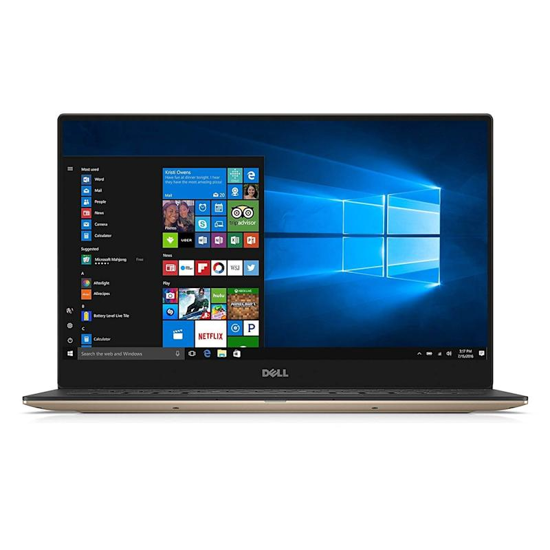 The Dell XPS 13 comes with two Thunderbolt 3 ports, one USB-C port, and one headphone jack. (Photo: Amazon)