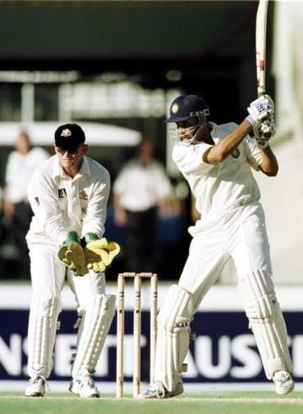 4 Jan 2000:  VVS Laxman scores through point during his century against Australia during the third days play of the Third Test Match between Australia and India at the Sydney Cricket Ground, Sydney, Australia. Mandatory Credit: Hamish Blair/ALLSPORT