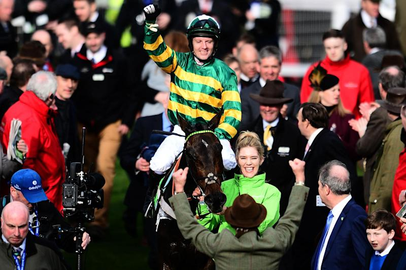 Record: Trainer Nicky Henderson became Stan James Champion Hurdle's most successful trainer: Getty Images