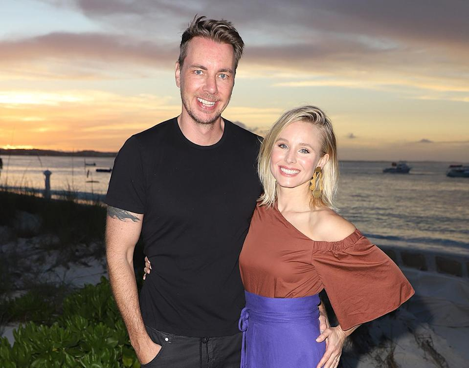 """<p>Spontaneity can be overrated, as the <em>Good Place</em> alum said she and hubby Dax Shepard regularly schedule sex to keep the spark alive.</p> <p>""""There are some times when it's in the calendar. You're like, 'I know you're tired, but it's been two weeks, so we really got to get to it,'"""" Bell told <em><a href=""""https://www.self.com/story/kristen-bell"""" rel=""""nofollow noopener"""" target=""""_blank"""" data-ylk=""""slk:Self"""" class=""""link rapid-noclick-resp"""">Self</a> </em>in May.</p> <p>Clearly, the ritual is working for them: On Mother's Day, her spouse shared <a href=""""https://people.com/tv/dax-shepard-shares-nude-photo-kristen-bell-mothers-day-tribute/"""" rel=""""nofollow noopener"""" target=""""_blank"""" data-ylk=""""slk:a NSFW snapshot"""" class=""""link rapid-noclick-resp"""">a NSFW snapshot</a> of his wife doing yoga in nothing but knee-high socks.</p> <p>""""Look at this specimen: kind, patient, nurturing, hilarious, Uber talented, generous, hard AND soft,"""" the <em>Parenthood</em> actor wrote. """"My girls and I hit the MegaMom Lottery in spectacular fashion. We are so grateful and so in love with you @kristenanniebell.""""</p>"""