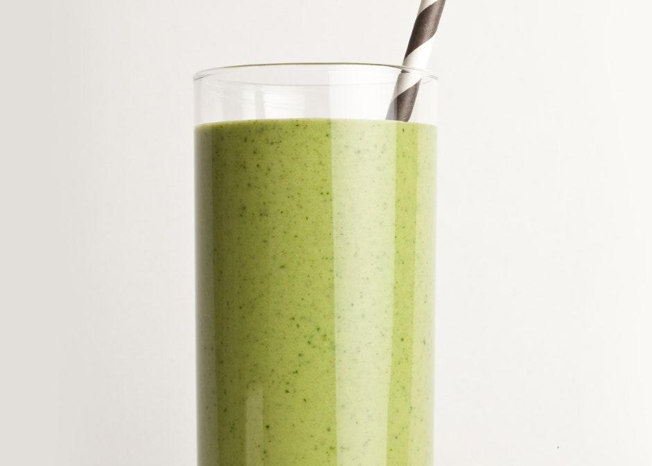 """We love the subtle savory quality the kale adds to the classic PB–banana combo. <a href=""""https://www.bonappetit.com/recipe/green-peanut-butter-smoothie?mbid=synd_yahoo_rss"""" rel=""""nofollow noopener"""" target=""""_blank"""" data-ylk=""""slk:See recipe."""" class=""""link rapid-noclick-resp"""">See recipe.</a>"""