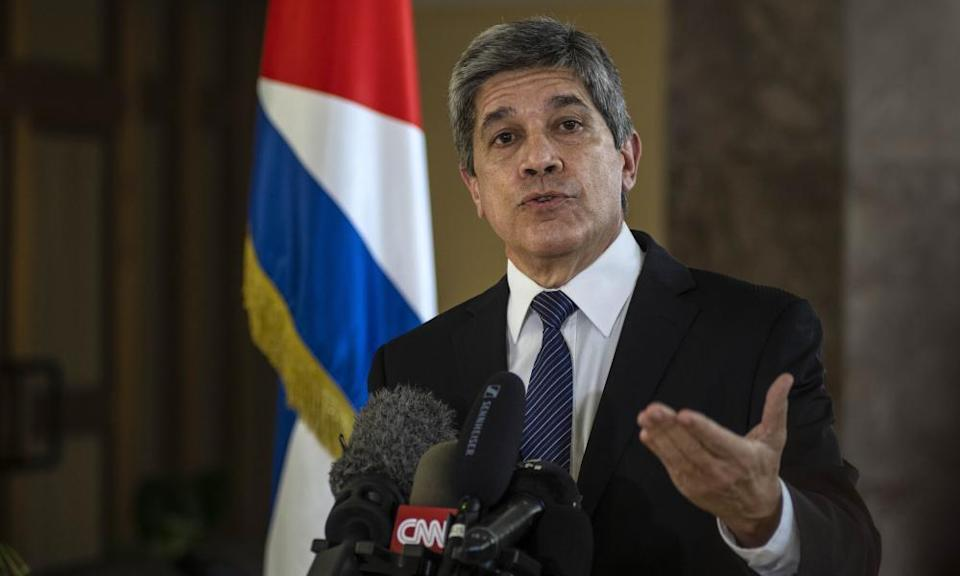 The demonstrations have been caused by the 60-year US trade embargo, according to senior Cuban diplomat Carlos Fernández de Cossío