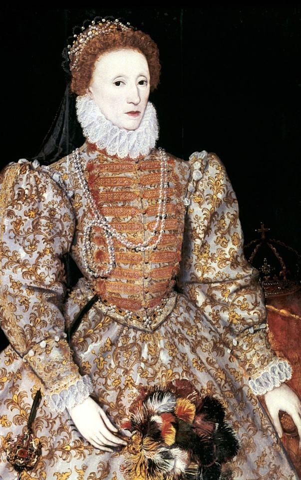 <p>During the Elizabethan era, ruffles were seen as ruffs, an accessory that was stiffened with starch and wire, giving the wearer the effect of a straighter posture. </p>
