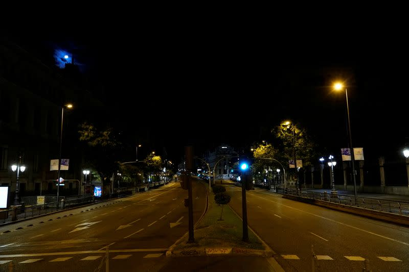 Madrid during night time curfew due to the coronavirus disease (COVID-19) outbreak
