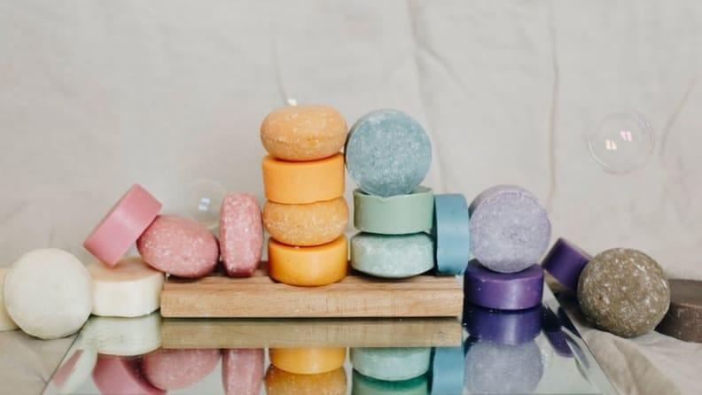 Shampoo bars come in different sizes and shapes.