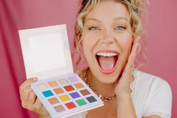 'It's been a blast,' coming up with eyeshadow shades based on P.E.I. says 29-year-old actor and entrepreneur Jessica Gallant. (Colton Curtis - image credit)