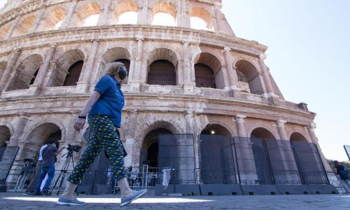 Colosseum reopens to tourists: 'With so few of us we can enjoy it more'