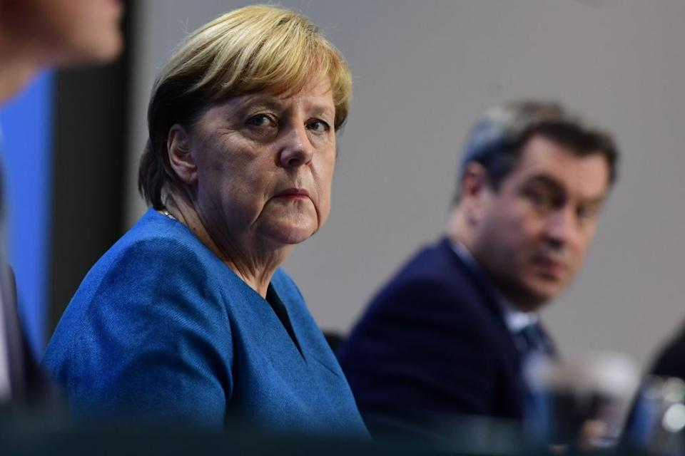 Angela Merkel and Markus Söder both believe Germany's resorts should remain closed over Christmas - Getty